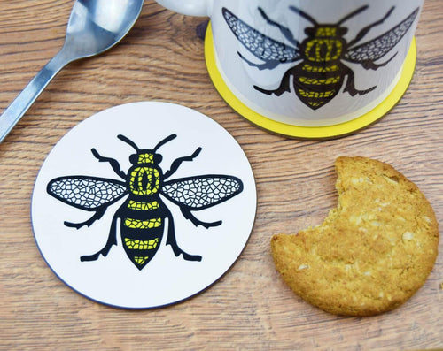 Mosaic Manchester Bee Coaster - The Manchester Shop