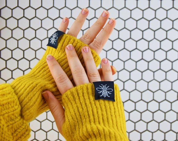Fingerless Mustard Gloves - The Manchester Shop