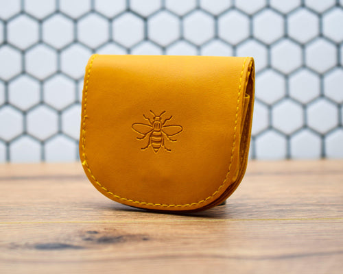Mustard Manchester Bee Purse - The Manchester Shop