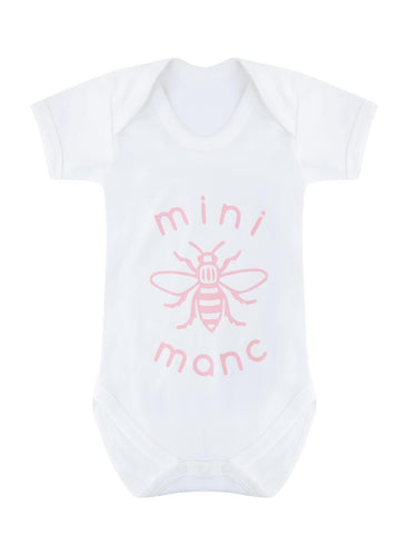 Pink Mini-Manc Baby Grow - The Manchester Shop
