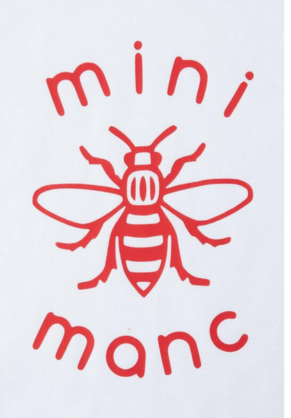 Red Mini-Manc Baby Grow - The Manchester Shop