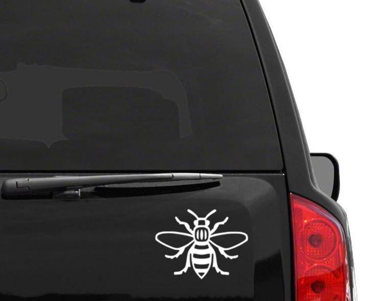 BLACK MANCHESTER BEE DECAL