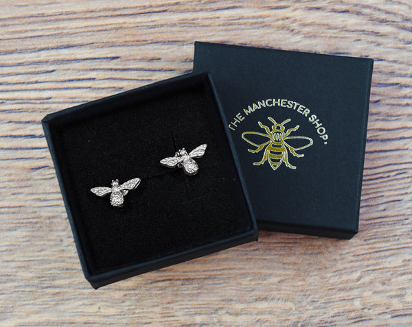 Silver Bee Stud Earrings - The Manchester Shop