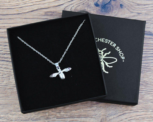 Silver Dainty Bee Necklace - The Manchester Shop