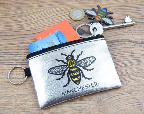 Silver Manchester Bee Purse - The Manchester Shop