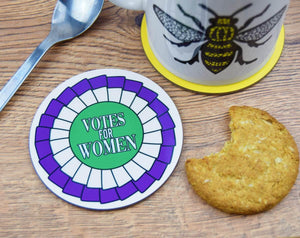 Votes For Women Rosette Coaster - The Manchester Shop