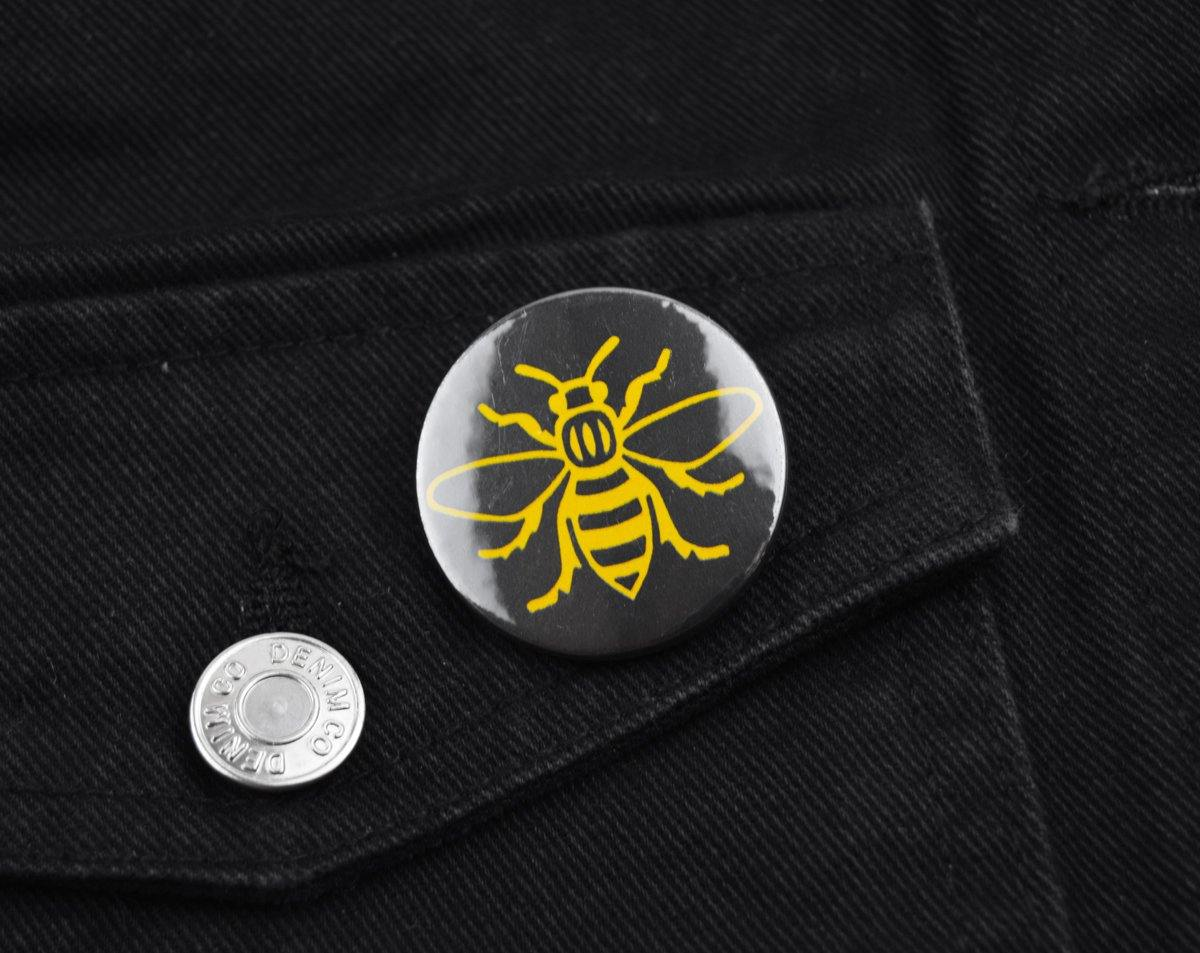 Yellow Bee Badge - The Manchester Shop