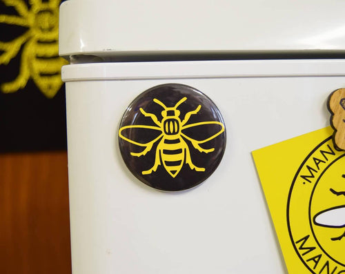 Yellow Manchester Bee Magnet - The Manchester Shop
