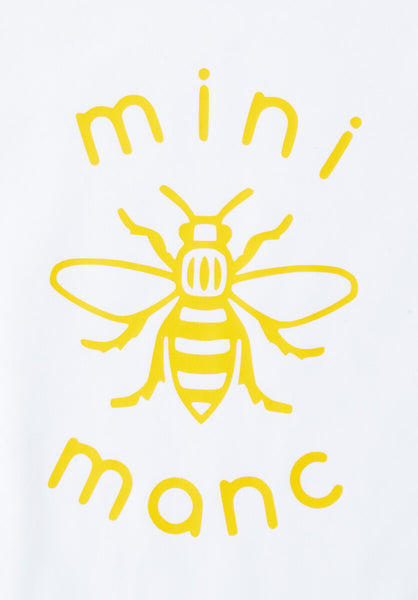 Yellow Mini-Manc Baby Grow - The Manchester Shop