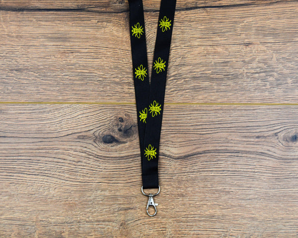 Black & Yellow Bee Lanyard - The Manchester Shop