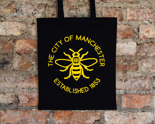 The City Of Manchester Est. 1853 Black Tote