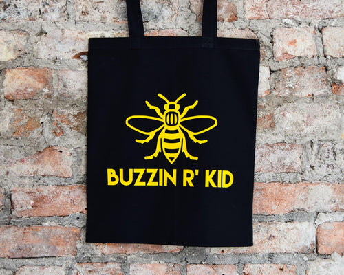 Buzzin R Kid Black Tote - The Manchester Shop