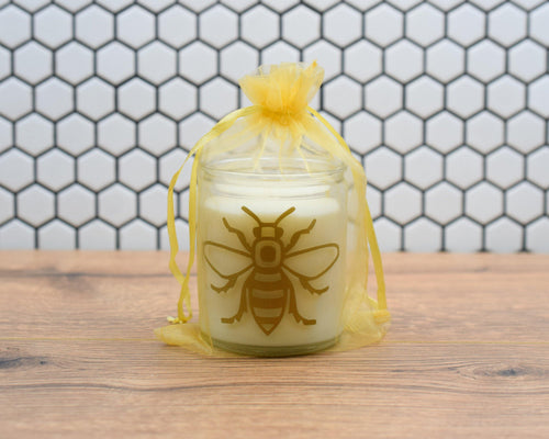 Manchester Bee Candle In Gift Bag - The Manchester Shop