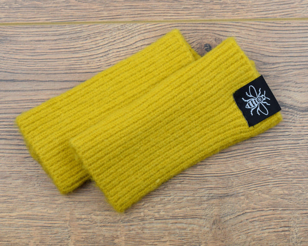 Fingerless Mustard Gloves