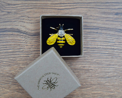 Glitter Bee Brooch - The Manchester Shop