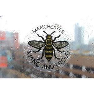 Mosaic Manchester Bee Manc & Proud Logo Window Sticker - The Manchester Shop