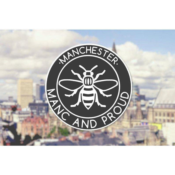 Manc & Proud Logo Window Sticker - The Manchester Shop