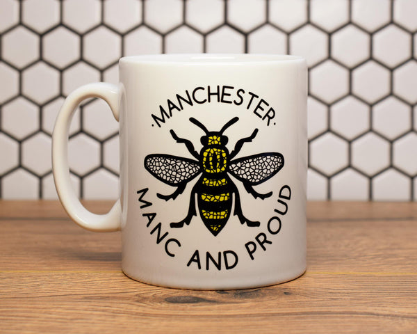 Manc & Proud Logo Bee Mug - The Manchester Shop