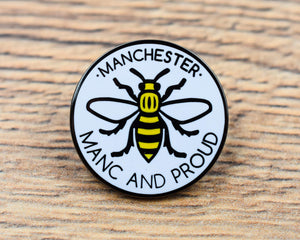 Manc & Proud Logo Pin