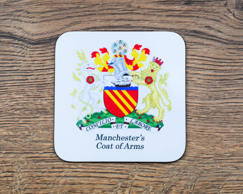 Manchester Coat of Arms Coaster