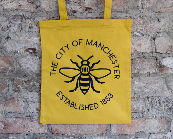 Yellow Manchester Established 1853 Tote - The Manchester Shop