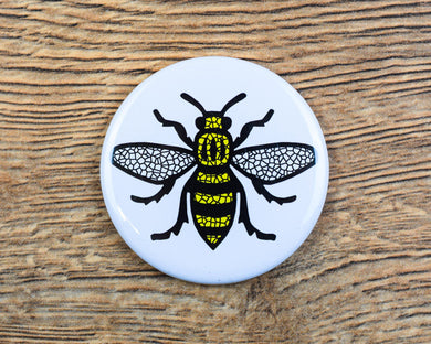 Mosaic Manchester Bee Magnet