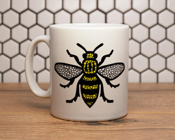 Mosaic MCR Worker Bee Mug - The Manchester Shop