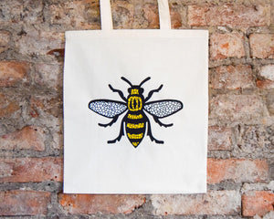 Mosaic Bee Cream Tote