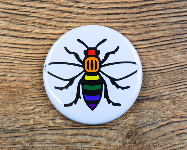 Rainbow Manchester Bee Magnet - The Manchester Shop