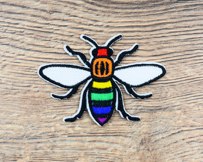 Rainbow Manchester Bee Patch
