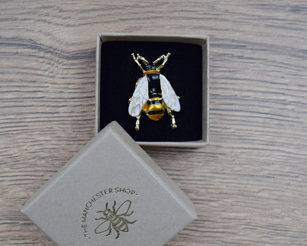 Real Bee Brooch