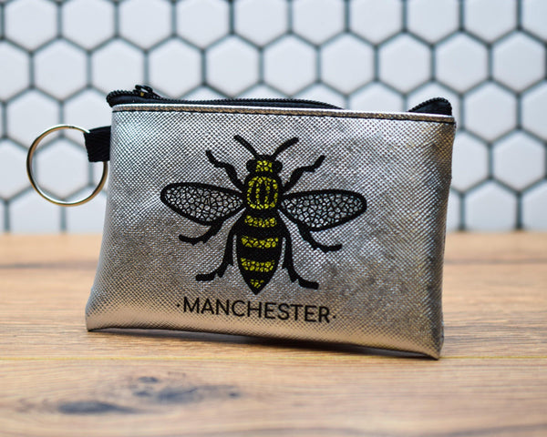 Silver Manchester Bee Purse