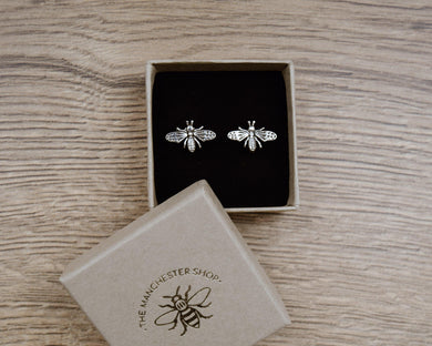 Sterling Silver Bee Earrings - The Manchester Shop