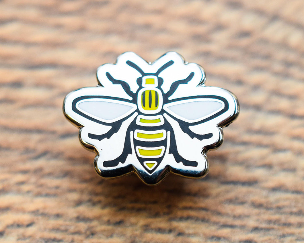 Cut Out Manchester Bee Pin