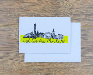With Love From Manchester Greeting Card