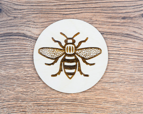 Wooden Engraved Worker Bee Coaster