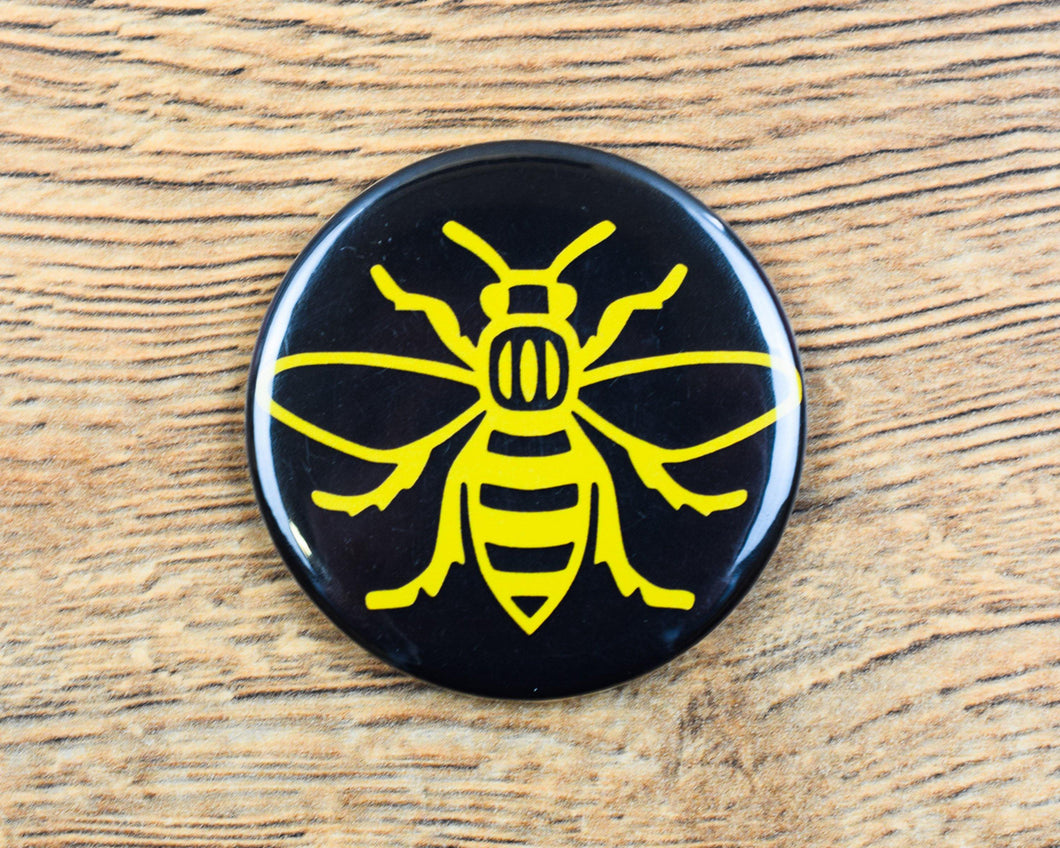 Yellow Manchester Bee Magnet