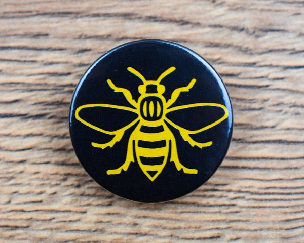 Yellow Manchester Bee Badge