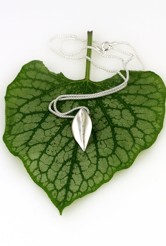 Be-Leaf sterling  silver pendant