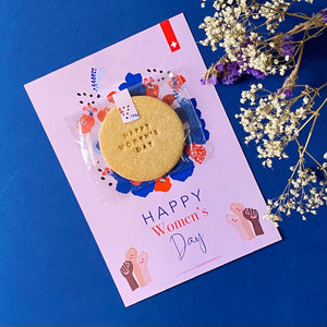 "Biscuit ""HAPPY WOMEN'S DAY"" + Carte"