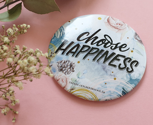 "Miroir ""CHOOSE HAPPINESS"" + pochette de transport"