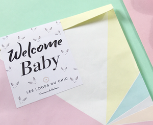 "Pochette ""WELCOME BABY"""