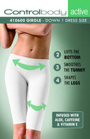 Control Body Short Leggings With Aloe _ Medium Support-Leggings-Control Body-Bianco (White)-L/XL-Luxe Lingerie