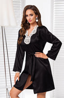 Irall Alexandra Dressing Gown Black-Gown-Irall-S-Luxe Lingerie