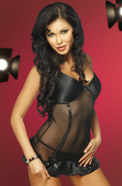 Irall Erotic Ophelia Chemise Set-Nightwear-Irall Erotic-Black-Large-Luxe Lingerie