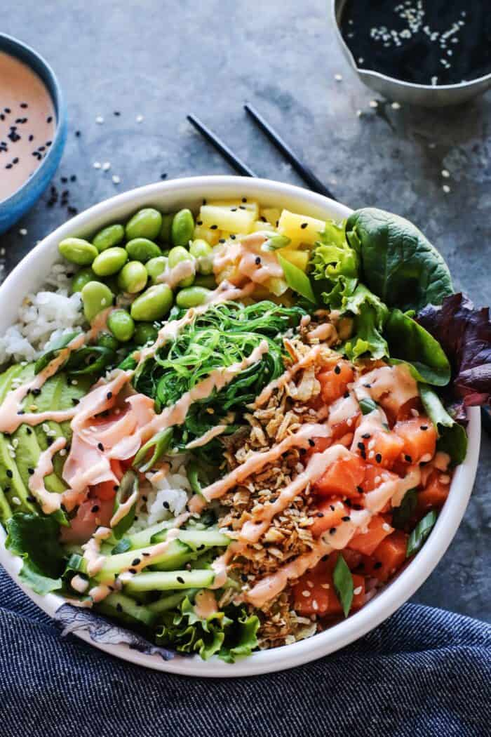 EASY POKE BOWL WITH SPICY AIOLI