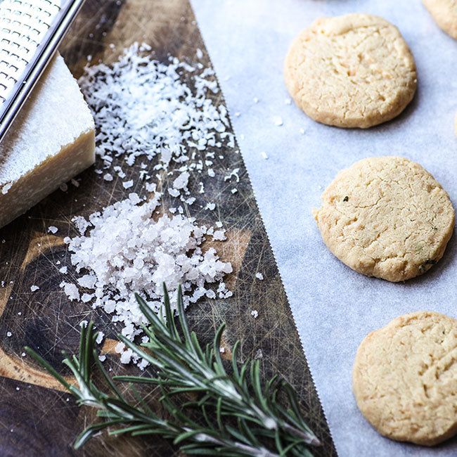 Parmesan Shortbread with Rosemary and Sea Salt