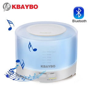 Difusor/Humidificador 500ml Bluetooth Para Tocar Musica 7 Cores de LED