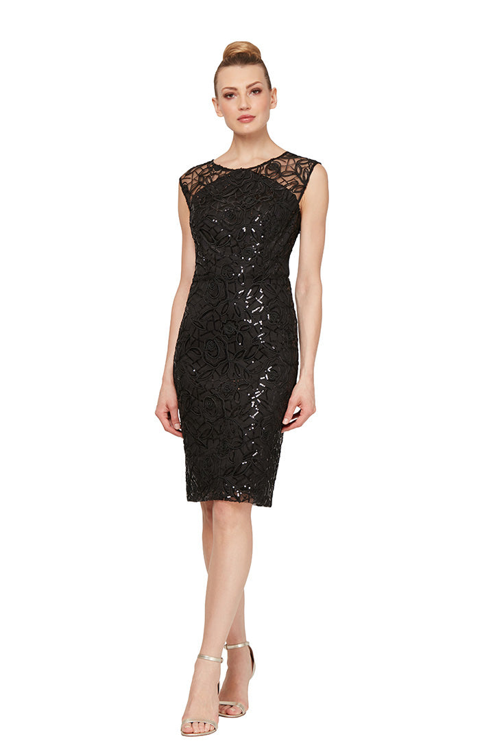 Ignite Evening Sequins Short Dress
