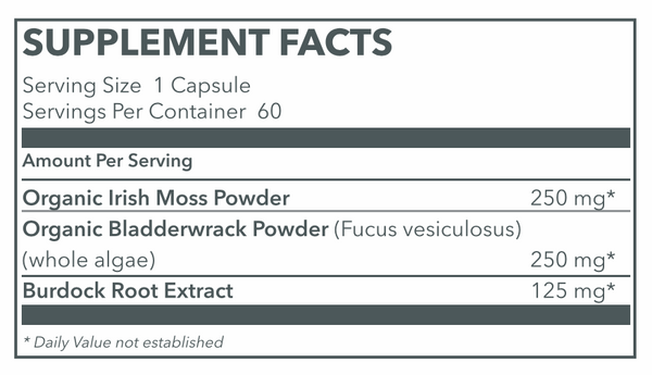Sea Moss Max   Supplement Facts